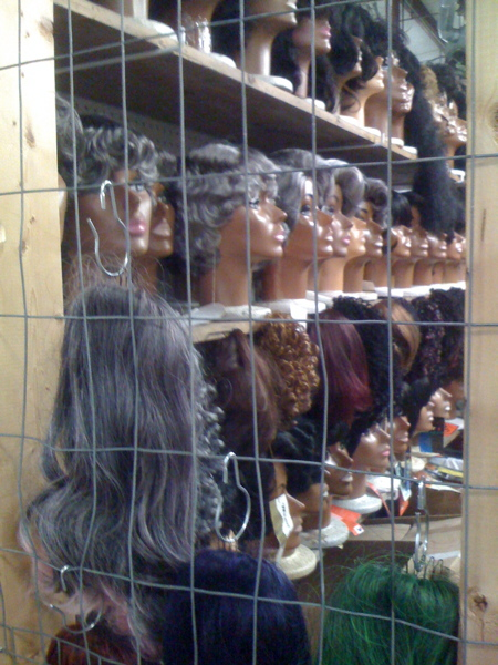 Wigs-in-cages